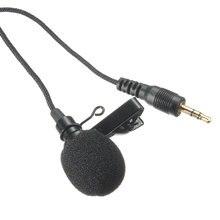 LEORY Mini 2,4 м 3,5 мм разъем всенаправленный металлический микрофон-петличка с зажимом для галстука микрофон аудио Микрофон для речевой Leture