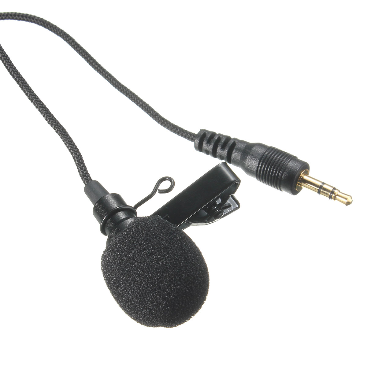 LEORY Mini 2.4m 3.5mm Jack  Omnidirectional Metal Microphone  Lavalier Tie Clip Microphone Audio Mic For Speech Leture