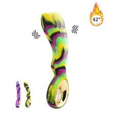 10 Speed Dildo Heating Vibrators Powerful AV Stick Sex Toys for Women Gay G spot Clitoris