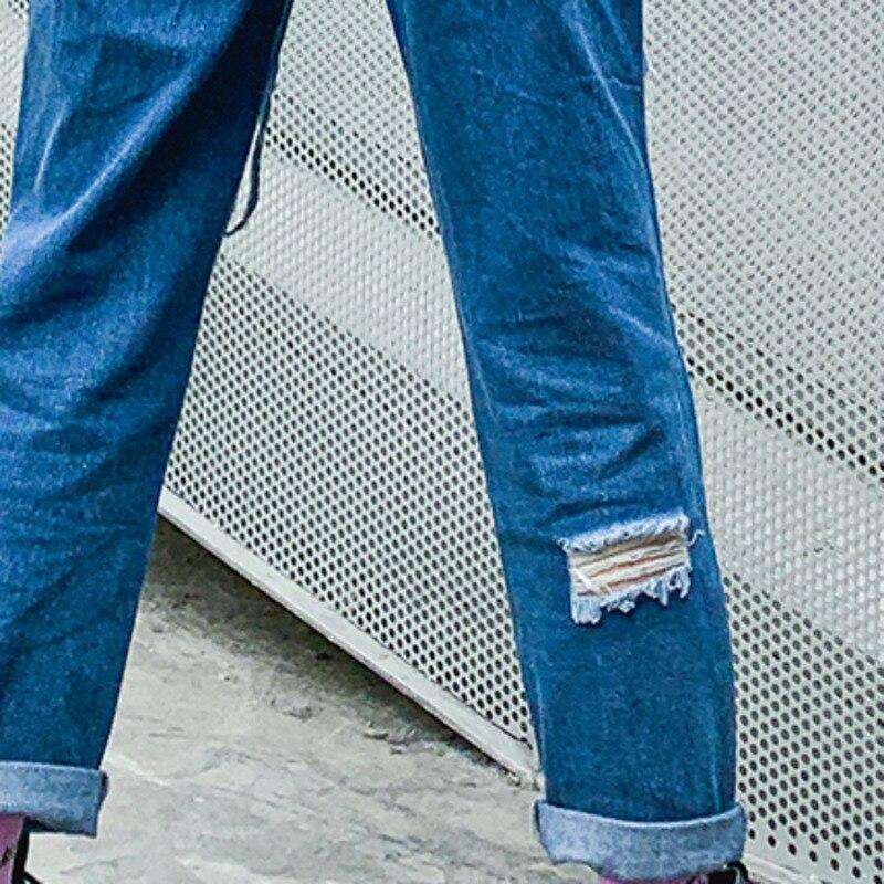 Ad50705l De Harem Agujero Verano Botón Denim Blue Cowboy Bolsillos ewq Completa Pantalones Patchwork Primavera La Calle Longitud Sueltos 2019 qwWAg