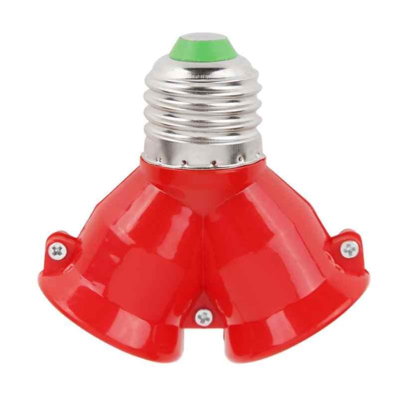 2 в 1 E27 лампа разветвитель адаптер лампочка держатель-стойка форма сплиттер адаптер патрон для лампочки