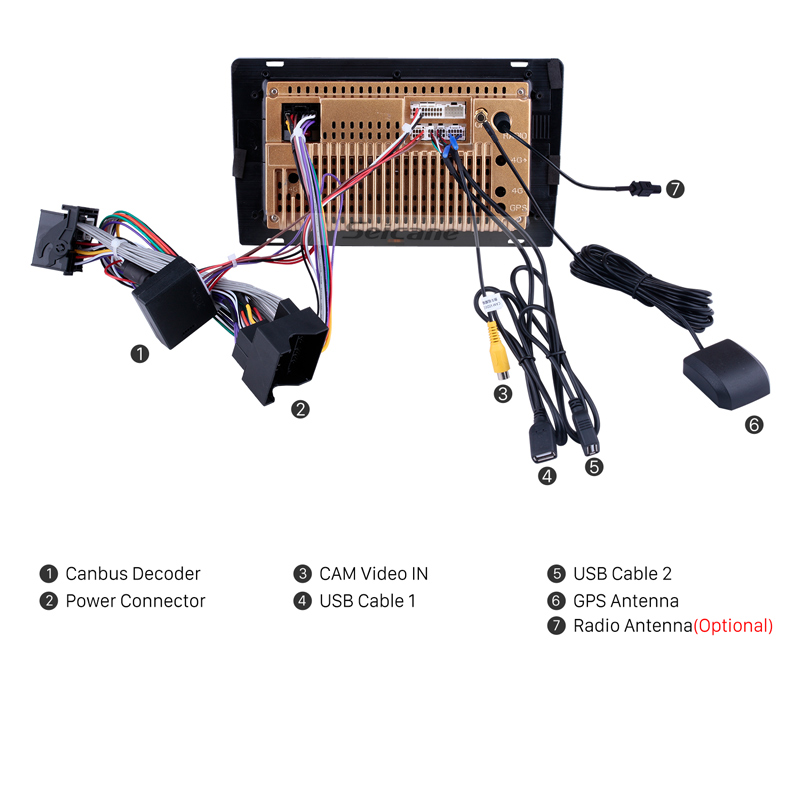 Seicane Androïde 8.1 Autoradio pour 2004-2012 BMW X3 E83 2.0i 2.5i 2.5si 3.0i 3.0si 2.0d 3.0d 3.0sd 3G WIFI GPS Navigation Automatique - 5