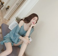New Arrival Ladies Solid Color Thin Sleepwear Female Casual Loose Three Piece Sets