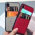 Тканевый кошелек чехол для iPhone X XS Max XR чехол для кредитных карт для iPhone 8 7 6 6 S Plus модный карман для карт жесткий чехол - фото