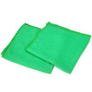 Image 5 - Mayitr 1Set 10X verde microfibra pulizia Auto dettagli Auto morbidi panni in microfibra asciugamano spolverino pulizia domestica 25*25CM