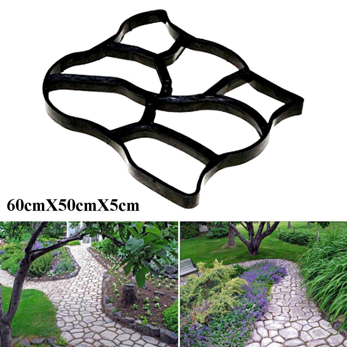 New Fashion Garden Concrete Paving Mold For Pavement Walkways Outdoor Improvements Plaster Shape Paver Concrete Plaster Molding Elegant Shape Furniture