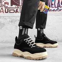 EXCARGO chaussures décontractées hommes baskets plate-forme chaussures de mode pour hommes 2019 nouvelles baskets d'été hommes noir confortable mâle chaussure Chunky
