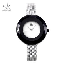 2019 SK Top Brand Luxury Ladies Watch Sliver Shengke Relogio Feminino Quartz Women Watches Women Clock Female Hour Montre femme цены