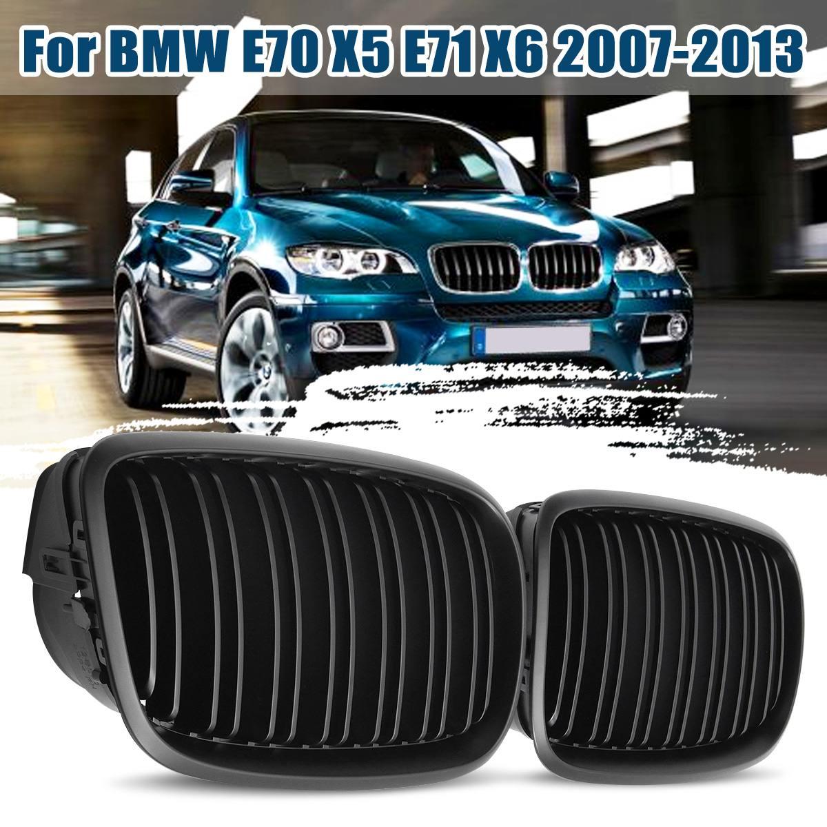 Black Black Mat Sport Front Grill Front Grille Set BMW E70 X5 2006