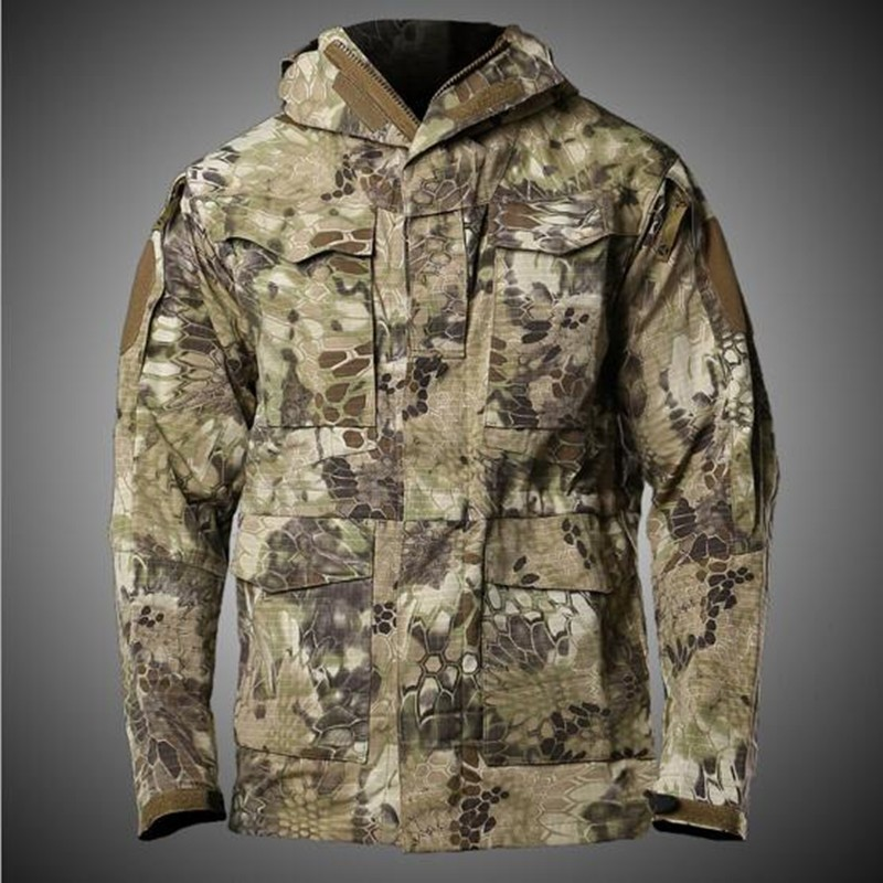 Urban Tactical Training Military M65 Windbreaker Mens Winter Outdoor Hiking Shooting Climbing Riding Windproof Warm Coat Jacket-in Hiking Jackets from Sports & Entertainment    1