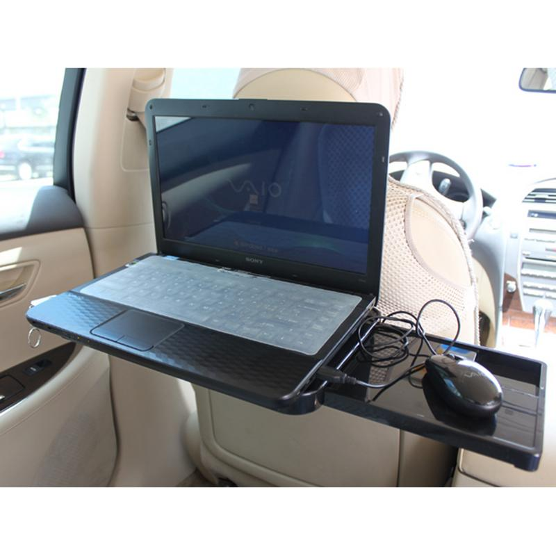 1pc Car Drawer Type Computer Desk With Mouse Disk Computer Frame Car Table Stand Holder Auto Beverage Storage Box