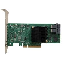 Eastforfuy Avago LSI SAS 9300-8i LSI00344 8 портов хост-шина адаптер SFF8643 без кэша HBA PCI-E3.0 x8 плата контроллера