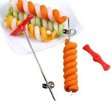 Ручной спиральный винтовой слайсер пластиковая ПП ручка+ проволока из нержавеющей стали картофель Морковь Огурец овощи спиральный нож инструменты для резьбы