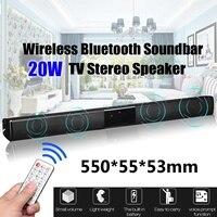 20 Вт ТВ динамик bluetooth-колонка беспроводной домашний кинотеатр звук бар пульт дистанционного управления
