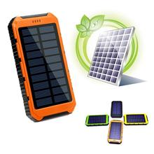 hot deal buy dual usb 10000mah solar power bank portable charger external battery power bank for iphone xiaomi mobile phone powerbank