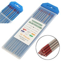 Red Tip 3/32 x 7(2.4x175mm) Thoriated Tungsten WT20 2% Welding TIG Electrode Lower Electronic Functions Welding Rod