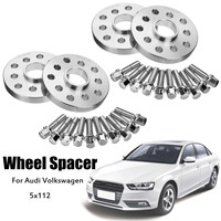 2set 20mm Car Wheel Spacers Gasket 5X112 57.1mm Bore Aluminum Alloy Shims Wheels Adapters for VW for Audi