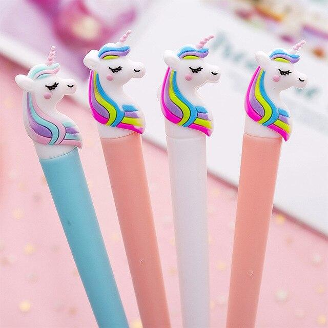 1Pc Unicorn Pen Stationery Kawaii School Supplies Gel Ink Pen School Stationery Office Suppliers Pen Kids Gifts Writing Tools
