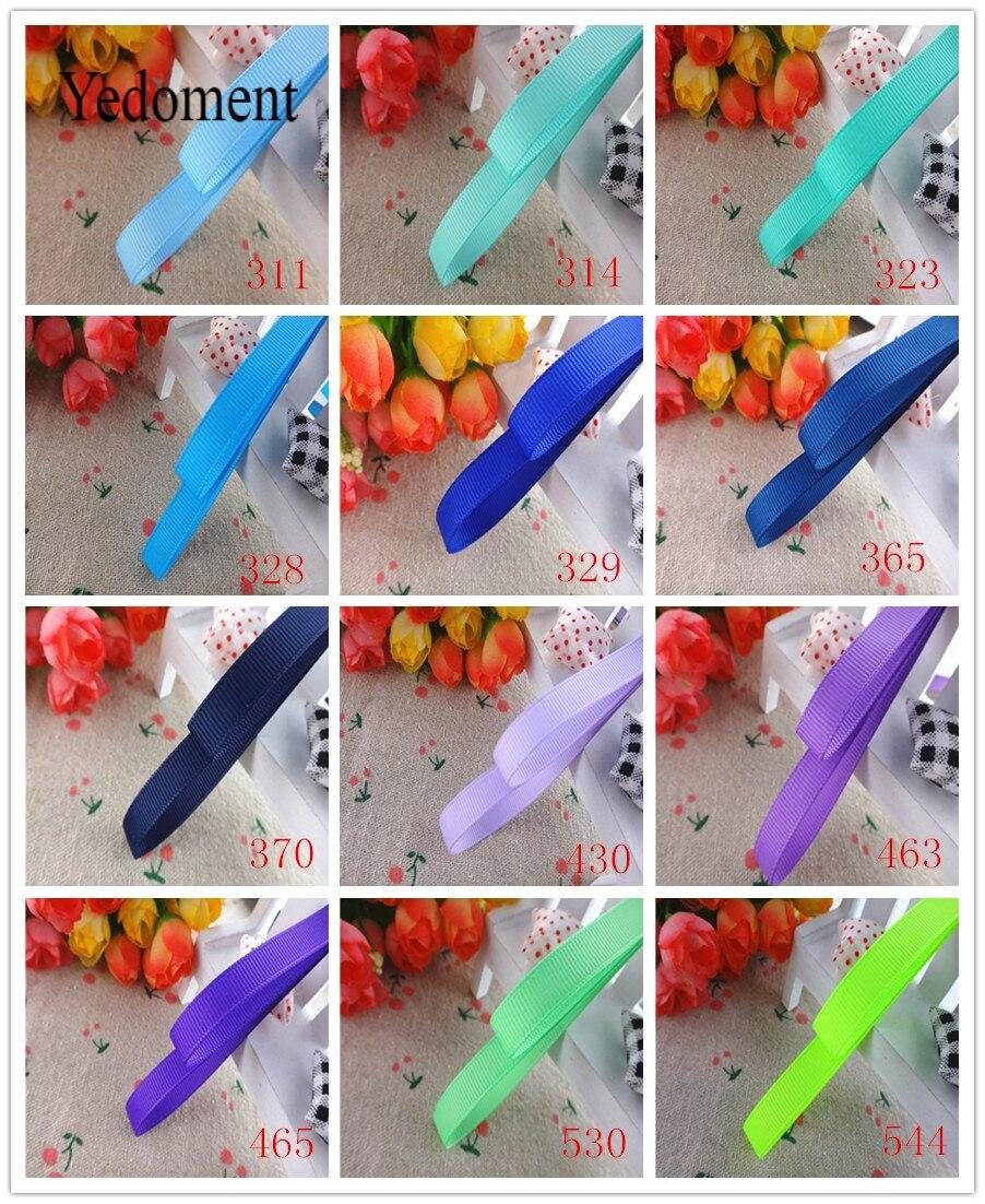 3/8 «10 мм 10 ярдов одноцветные корсажные ленты подарочные упаковочные материалы для ручных поделок YM18010106
