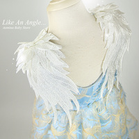 Like An Angel. 3D Wings Feather Embroidery Toddler Baby Girls Dress, Summer Princess Party Wedding Kids dresses for girls 1 10 Y