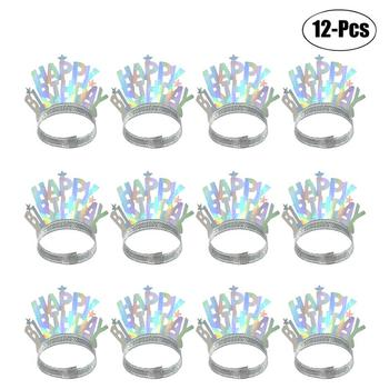 12pcs Kids Party Birthday Hat Festive Party Crown Headgear Letter Happy Birthday Party Decor Festive Party Supplies Accessorie