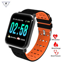 New A6 Smart Watch Band Heart Rate Monitor Wristband Blood Pressure Activity Fitness Bracelet Tracker for IOS Android blood pressure watch heart rate monitor smart men activity fitness tracker wristband pulsometer bracelet for android ios phone