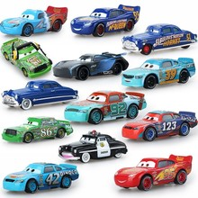 Disney cars party supplies Pixar Toys Lightning McQueen Jackson Storm Mack 1:55 Diecast Model Car Toy Children Birthday Gift