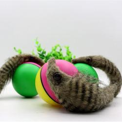 Jumping Rolling Chasing Moving Children Pet Toys Weasel Activation Ball Kids Pets Funny Beaver Toy