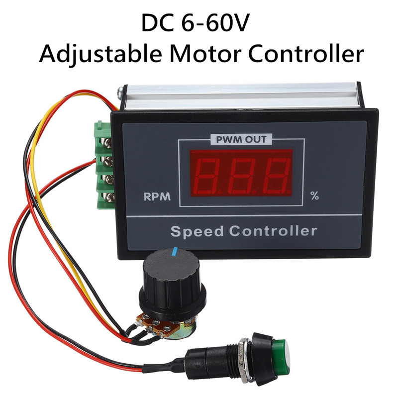 Motor Controller Orderly Dc 6-60v 30a Speed Pwm Controller Adjustable Motor Controller With Digital Display Dc Motor Speed Controller 96x61x34mm