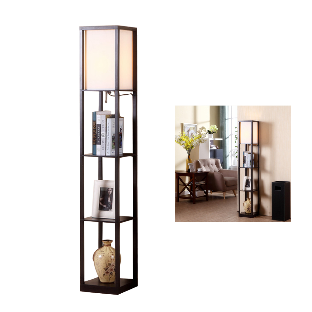 Bathroom Fixtures Brave 1pc Led Shelf Floor Lamp Modern Simple Standing Light Display Shelves For Living Rooms Bedrooms Offices Accessories