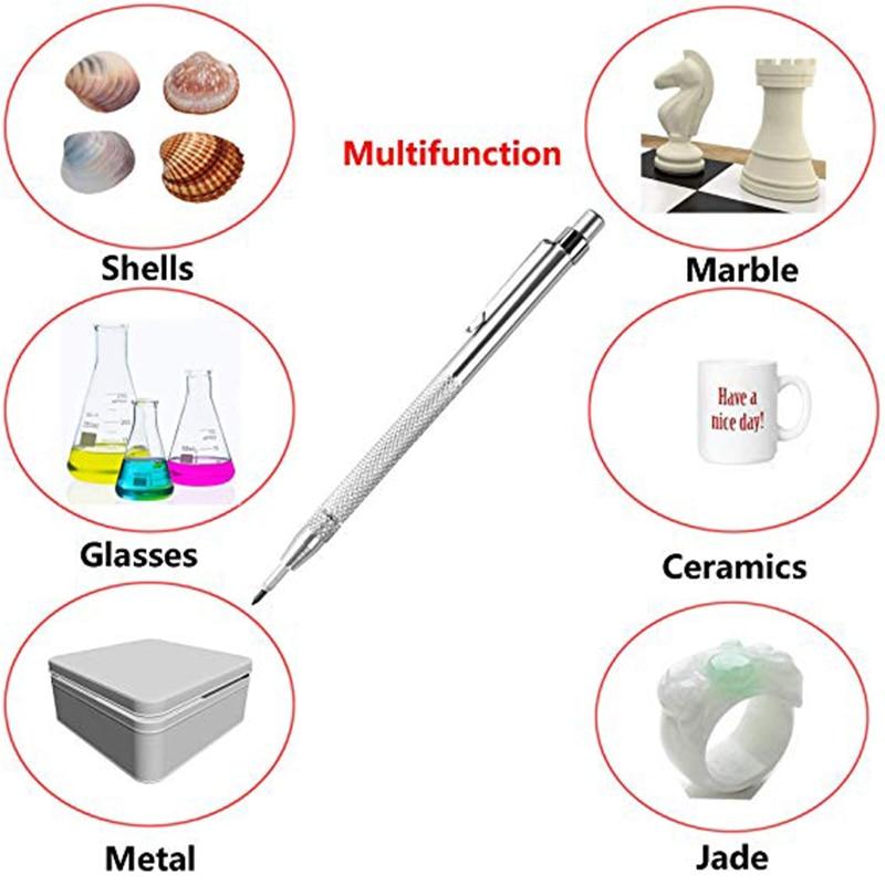 Aluminium Carbide Kraspen Hard Metal tegel Snijmachine Belettering Pen met Magneet Etsen Graveren Penfor Glas Keramiek