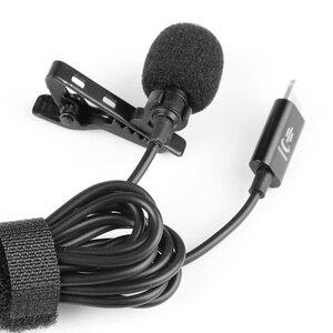 Image 4 - YC LM10 II Mini Di Động Microphone Condenser Kẹp Ve Áo Lavalier Mic Có Dây Mikrofo/Microfon Cho iPhone X 8 7 CANON