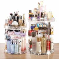 360 rotatif acrylique cosmétique Maquillage organisateur bricolage détachable Rangement Maquillage réglable Maquillage stockage support
