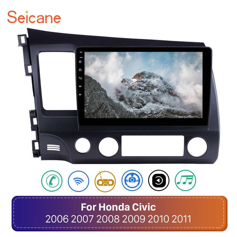 """Seicane アンドロイド 8.1 10.1 """"2Din カーラジオ 2006 2007 2008 2009-2011 ホンダシビックヘッドユニット WiFi ステレオ GPS マルチメディアプレーヤー"""
