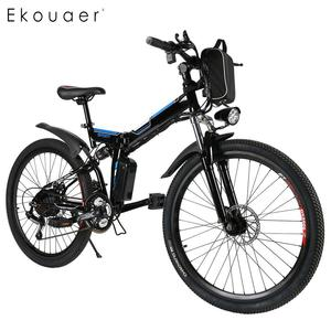 26 بوصة 36 فولت طوي الطاقة الكهربائية دراجة جبلية مع ليثيوم أيون بطارية الدراجة في الهواء الطلق التخييم مبطن القياسية 40 كيلومتر