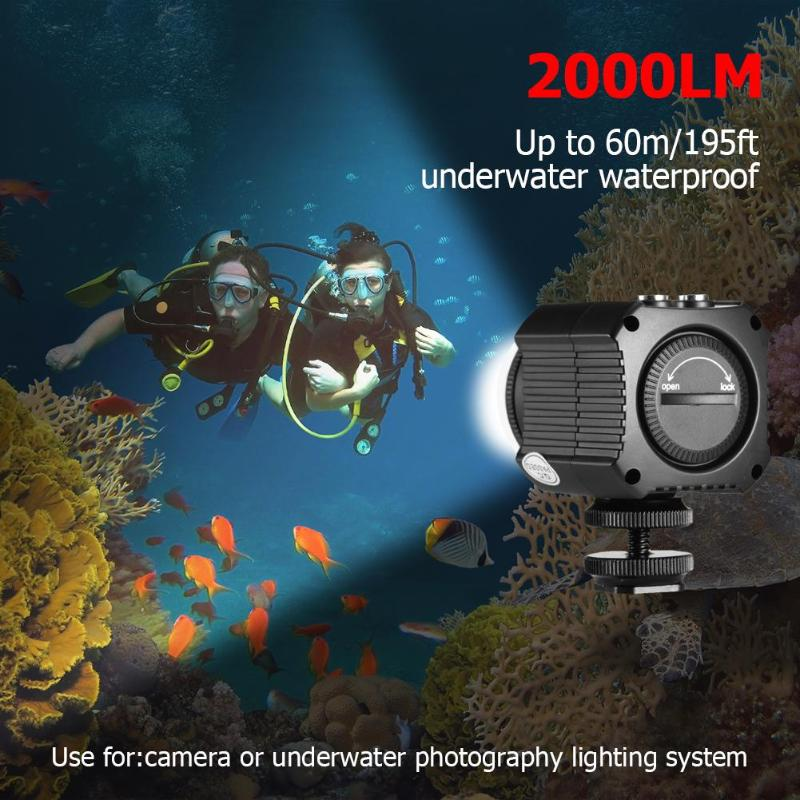 Photographic Lighting IPX8 Waterproof Camera LED Photo Video Fill Light Lamp 60M Underwater Diving Photography LightingPhotographic Lighting IPX8 Waterproof Camera LED Photo Video Fill Light Lamp 60M Underwater Diving Photography Lighting