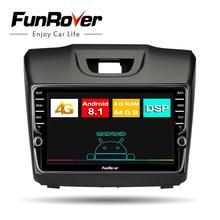 Funrover 8 core 2 Дин радио мультимедиа android8.1 для Chevrolet Trailblazer Колорадо S10 Isuzu D-max MU-X автомобиль dvd gps плейер