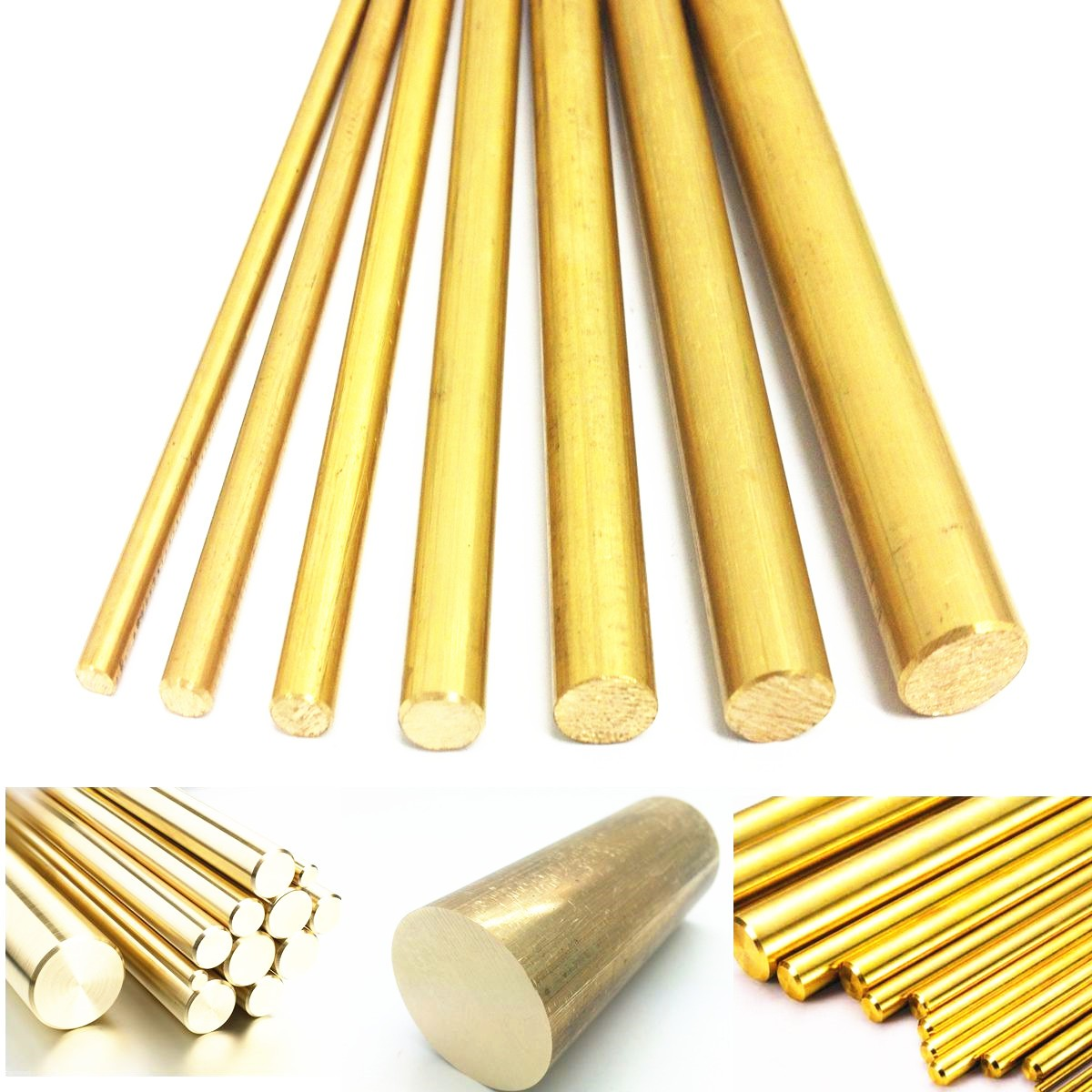 8mm Diameter 100/200/330/500mm Brass Round Bar Rod Circular Tube