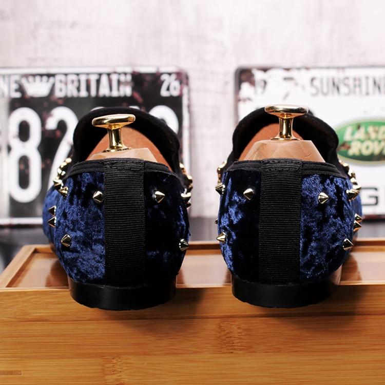 New Arrival 2019 Blue Black Man Driving Loafers for men Flat heel Velvet Leisure Peas Shoes Hombre 4