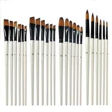 Кисти для художественной ручки, экологически чистые перламутровые белые акварельные ручки, акриловые масляные акварельные краски, нейлоновые модели волос, 6 шт
