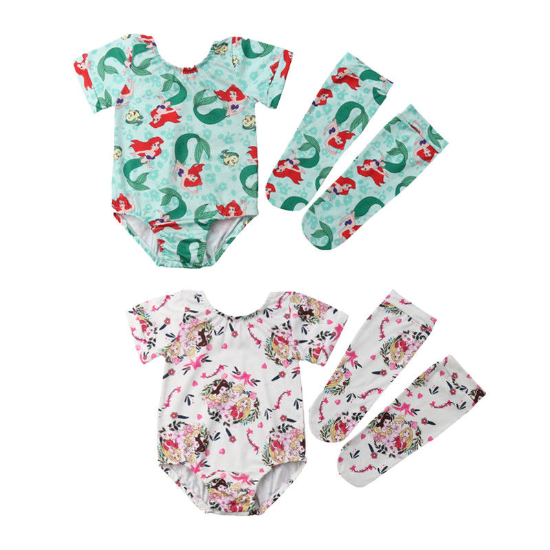 Diplomatisch Nieuwe Arrivels 3 Pcs Pasgeboren Baby Meisjes Mermaid Prinses Romper + Been Warmer 2 Pcs Set Outfits Bevordering Van Gezondheid En Genezen Van Ziekten