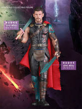 The Avengers 4 Figures Thor Marvel Avengers Thor Action Figures Crazy Toys Hot Toys PVC Scale Collectible Figure Model Toy 18cm цена в Москве и Питере