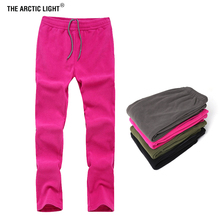 THE ARCTIC LIGHT Winter Spring Warm Fleece Pants Camping Men Women Outdoor Hiking Fishing Trousers Sports Ultralight 4 Colors winter outdoor fishing clothing camouflage sports men pants sports men jacket and pants fleece warm windproof for fishing