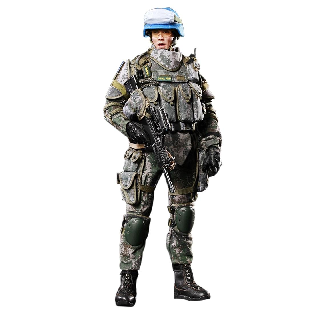 30cm 1/6 Movable Figure Military Soldier Model Blue Helmet Warriors30cm 1/6 Movable Figure Military Soldier Model Blue Helmet Warriors