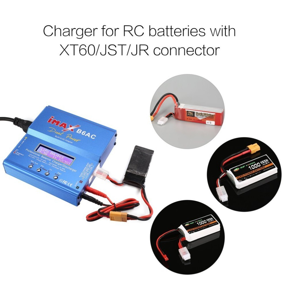 iMAX B6AC 80W 6A Lipo NiMh Li ion Ni Cd AC DC RC Balance Charger 10W