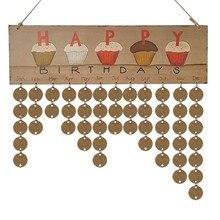 Creative Daily wooden Planner Calendar 2019 Organizer School Office Decoration Supplies Wall Mounted Perpetual Calendar 00016