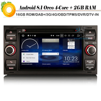 DAB+ Quad Core Android 8.1 Autoradio WiFi 4G GPS Radio BT SD OBD DVT IN Car Multimedia Player FOR FORD Mondeo Focus S Max Fiesta