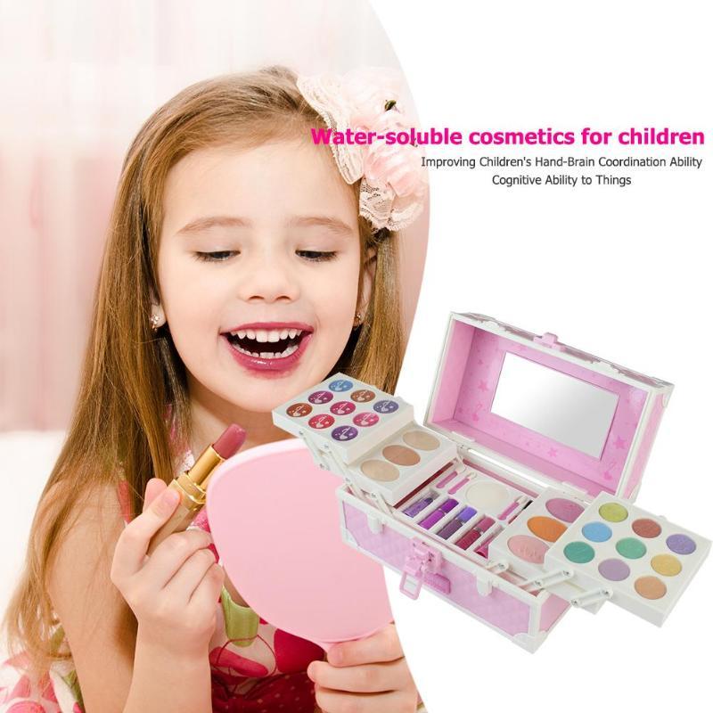 Magiczne lustro serii księżniczka kosmetyki zestaw zabawek zestawy do makijażu dziewczyna ozdoby dla dzieci zabawki do makijażu zestaw kosmetyków udawaj zagraj zabawki w Gadżety urodowe i modowe od Zabawki i hobby na  Grupa 2