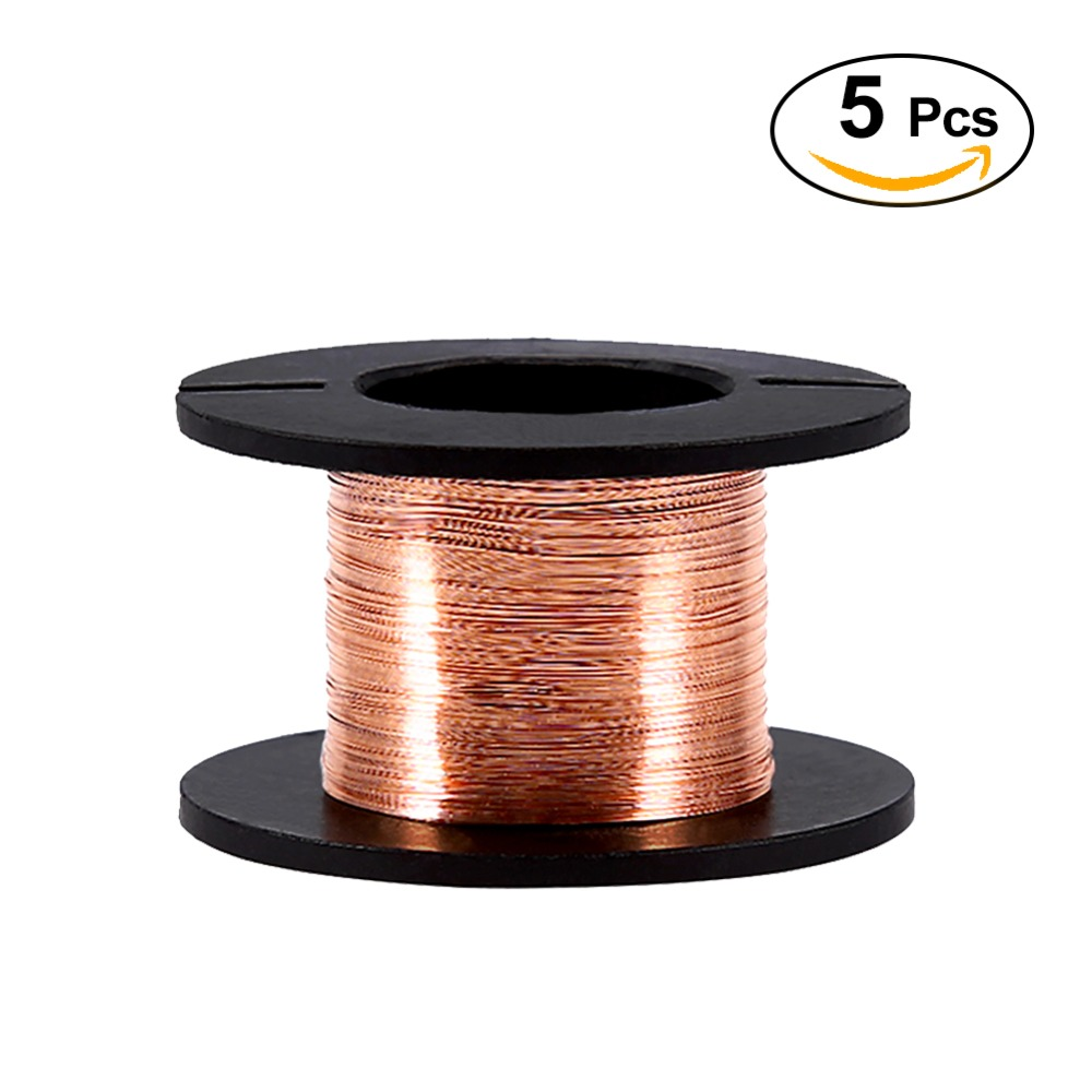 5PCS/Lot 0.1mm Enameled Wire Copper Winding Wire Enamelled Repair Cable Soldering Wire 15m Length new