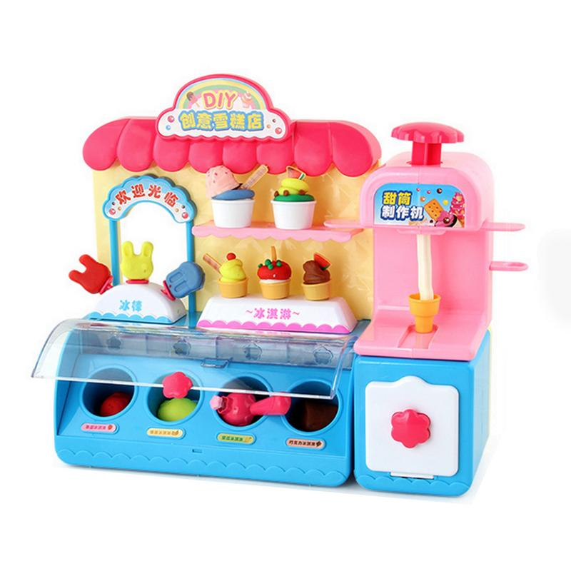 3d Colorful Plasticine Ice Cream Shop Ice Cream Machine